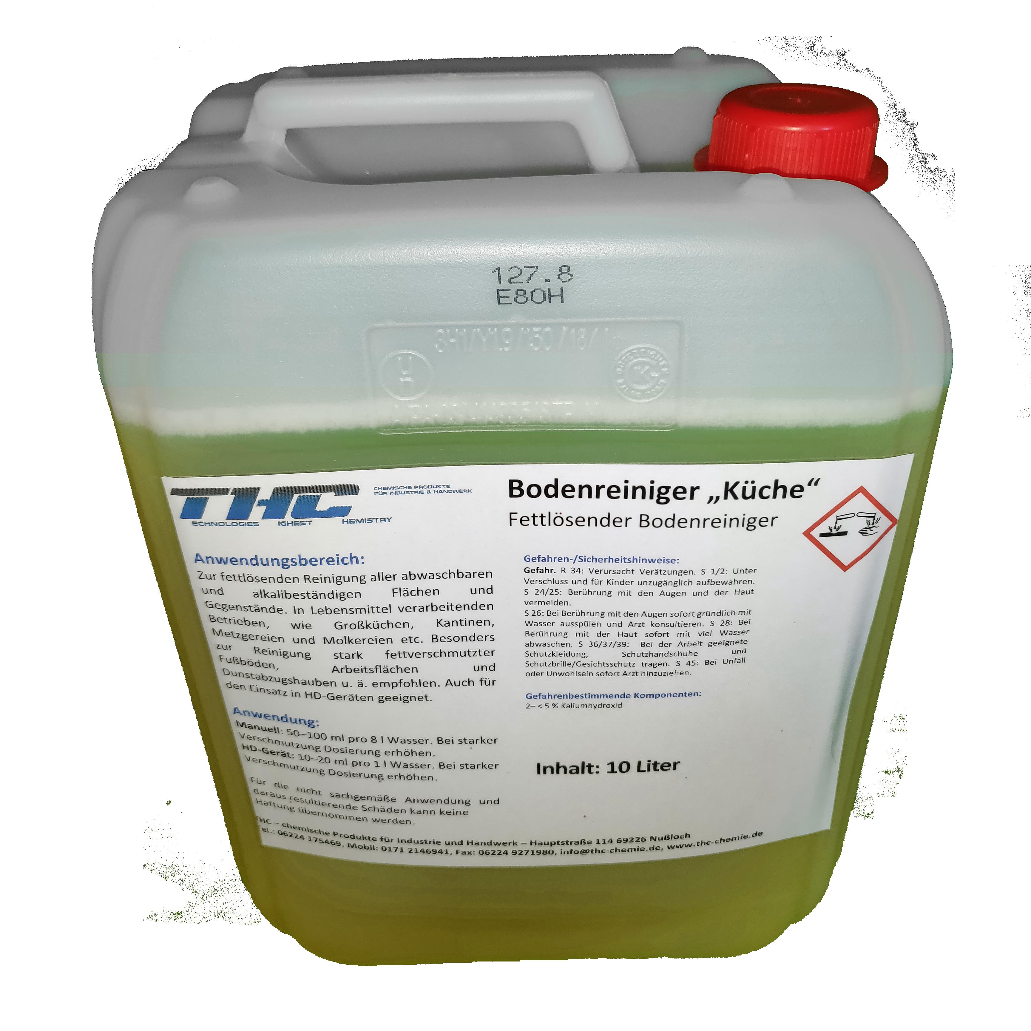 Bodenreiniger Küche – starker alkalischer Fettlöser – TH-Chemie